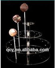 Clear Acrylic 3 Tier lollipop Holder/acrylic cake pop display stand
