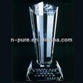 trofeo de cristal de la tv y el logotipo de la estación