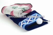 Golf Club Cotton Woven Golf Towel with customer logo