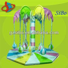 Gmb-d10 popular de plástico de la selva gimnasio para niños eninteriores del parque de atracciones