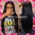 natural recta precio de fábrica brasileña del pelo humano peluca de cabello natural