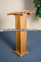 Artesanais bétula madeira completa PEDESTAL pecan igreja atris / sala de conferências púlpito / sala de aula púlpito