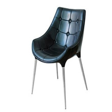 Fiberglass Frame with Leather Cover Diana Armchair