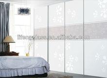 La decoración del hogar de deslizamiento de la puerta de la cocina de diseño de vidrio