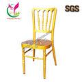 Nuevo diseño de aluminio silla, Con el oro color, Y extraíble cojín, Muebles de lujo utilizado napoleón chairYC-A113-1