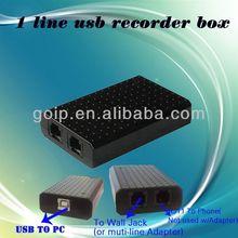 1 line voice recorder/telephone recording box/recordable phone recordable stand-alone voice recorder
