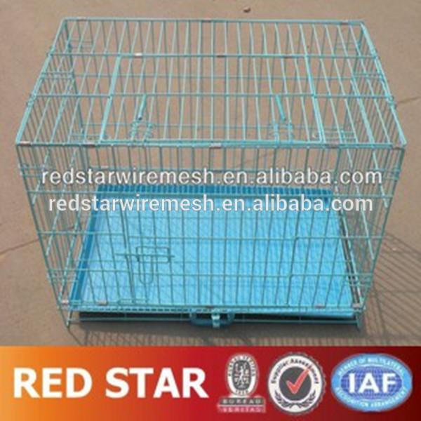 PVC kaplı daraltılabilir köpek Kafes/daraltılabilir köpek kulübesi/katlanabilir köpek kafesi