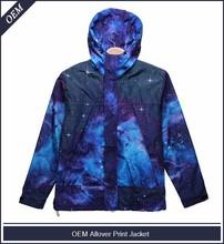 Custom allover print sublimation galaxy print coats and jackets
