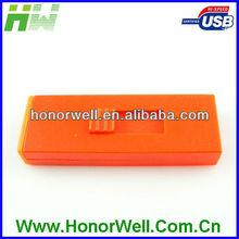 Square Orange and Blue Color Plugin 4GB 8GB 16GB Promotion Gift Free Logo USB flash drive