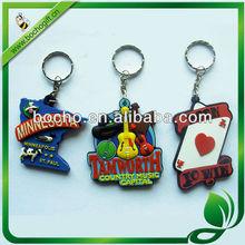 Customized soft PVC keychains