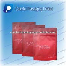 eye mask packaging bags/fashionable plastic cosmetic bags /printed plastic cosmetic bag for Wetnaps