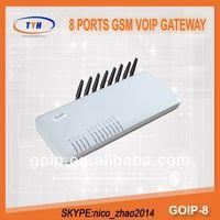 3g Cdma Gsm Dual Sim Mobile Phone GoIP 8 Ports GoIP Gateway With IMEI Changer