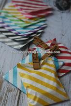 Krafty Colorful DIAGONAL STRIPE Itty Bitty Bags Party Sweet Treat Mini Paper Bag