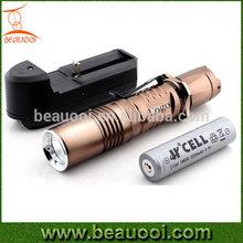 Super power 1000lumen 18650 10W charger torchlight, Aluminum Rechargeable Flashlight