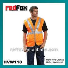 HVW118 Roadway Reflective Orange Safety Waistcoat