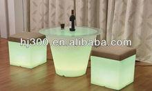 led cube/glowing bar stool/plastic chair