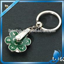 rolling flower metal keychain