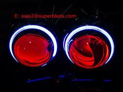 "3.0"" h4 hid projector headlight with demon/devil angel eyes"