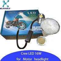 Promotion! hot sale 16w 8000k moto led headlight