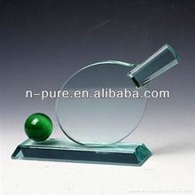 Blank Crystal Table Tennis Trophy