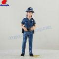 Resina agente de polícia, modelo militar, polyresin brinquedo militar
