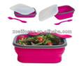 comida saudável grau microwavable dobrável de silicone tigela de salada