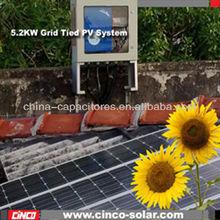 Solar solar power plant.5.2kw solar green energy systems olar power plant