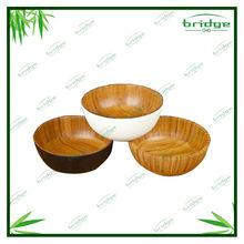 unique bamboo wood salad bowl