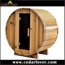 Red cedar outdoor steam room portable sauna