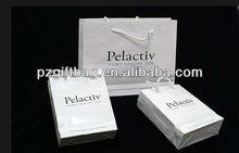 2012 popular custom white shopping bags wholesale
