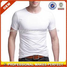 Wholesale men o-neck t shirt white fashion mens t shirt(YCT-B0116)