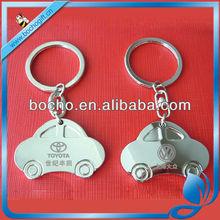 metal car shaped key tag