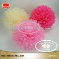Decoración de la boda única colgante tejido pom poms / tissue papel de la flor