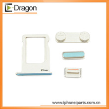 2013 New arrival for iPhone 5S Side Buttons( power+ volume+mute switch) +sim tray