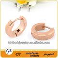 er01025 aço cirúrgico brinco jóias de ouro rosa