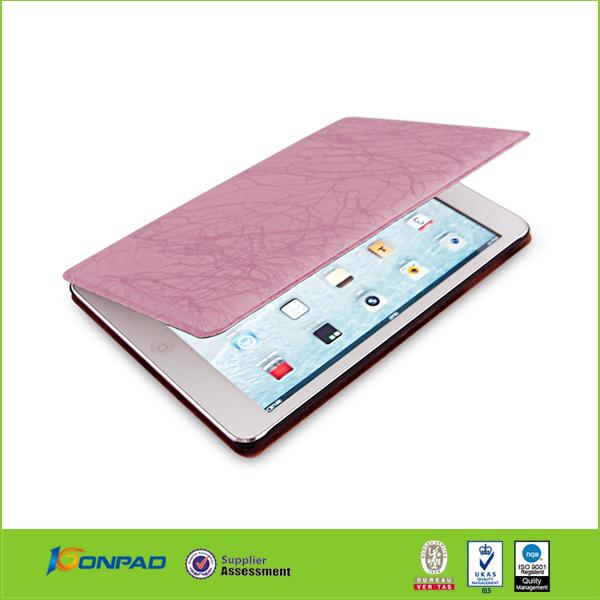 flip leather cases and cover for ipad mini, leather case for mini ipad