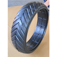 16x4 inch semi solid agricultural rubber tire with V tread for TORO agriculture machines