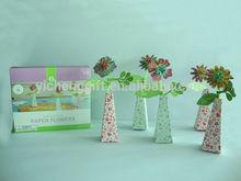 Fiore di carta fai da te, bambini educazione, giocattolo diy vaso