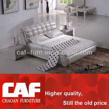HP080 deluxe and modern white leather furniture king size bed