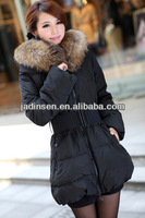 2013 black fur collar down women jacket