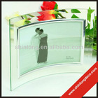 hot sale curved glass photo frame for wholesale