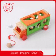 Animal wooden toy trucks