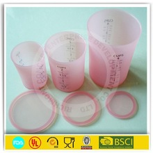 Household lovely new products silicone cup with measuring scael