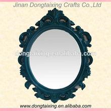 morden decorative wall mirror pu framed mirror white frame mirror DTX6024