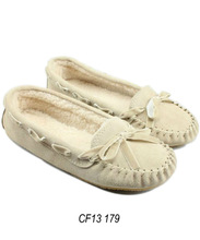 Fashion suede moccasin flat for women