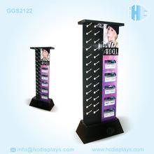 make up Cardboard POP UP Hook Display Shelf Stand