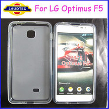 Hot selling Side Shiny+Middle Matte TPU Gel Case for LG optimus F5 P875