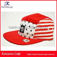 Custom USA Stars and Stripes Style 5 Panels Camp Hat/Cap