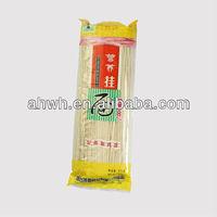 Noodles, plastic food packaging bags