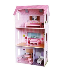 Beautiful Cheery Colours Doll House wooden for children pretend play and DIY